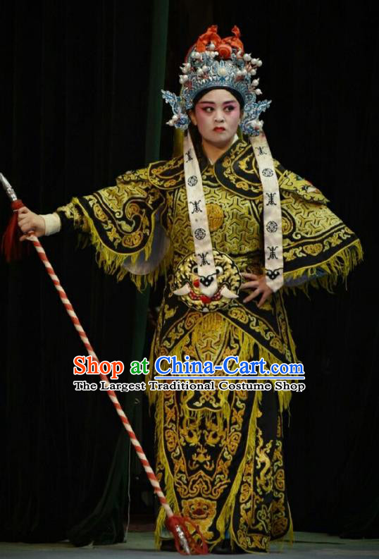 Chinese Shanxi Opera Soldier Armor Apparels Costumes and Headpieces Traditional Jin Opera Martial Male Garment Wusheng Warrior Clothing