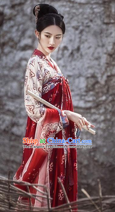 Chinese Traditional Apparels Tang Dynasty Palace Lady Historical Costumes Ancient Royal Princess Hanfu Dress for Women