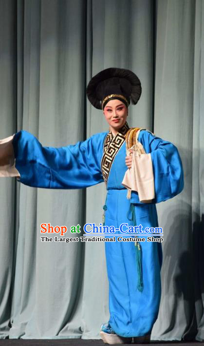 Fifteen Strings of Cash Chinese Shanxi Opera Xiaosheng Apparels Costumes and Headpieces Traditional Jin Opera Scholar Garment Niche Clothing