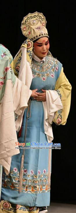Double Butterfly Chinese Shanxi Opera Xiaosheng Apparels Costumes and Headpieces Traditional Jin Opera Scholar Garment Young Male Liang Shanbo Clothing