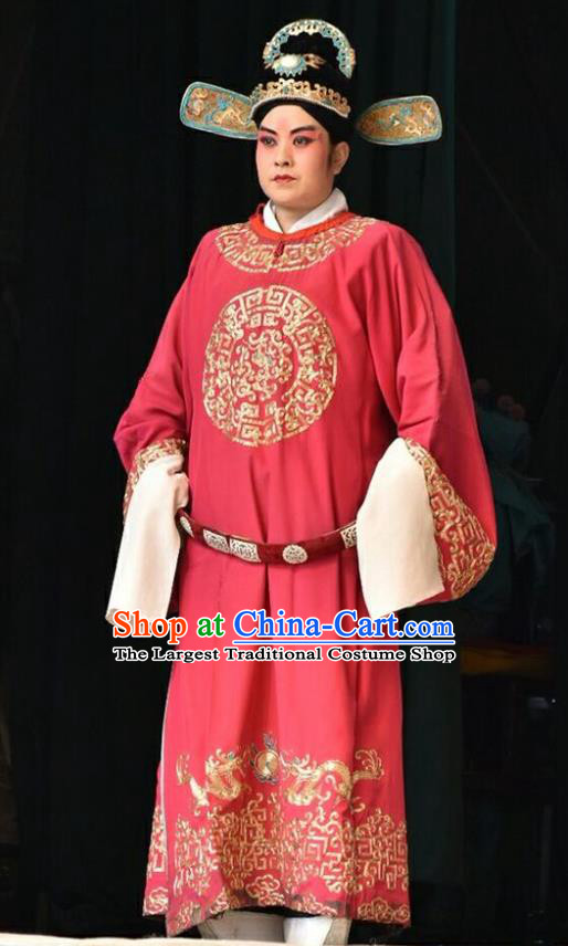 Chinese Shanxi Opera Xiaosheng Apparels Costumes and Headpieces Traditional Jin Opera Young Male Garment Number One Scholar Clothing