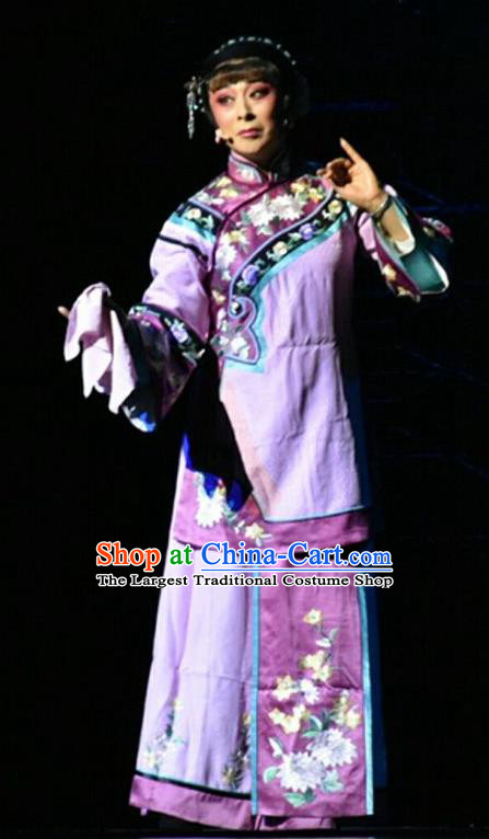 Chinese Jin Opera Rich Mistress Garment Costumes and Headdress Wang Jia Da Yuan Traditional Shanxi Opera Young Female Dress Actress Apparels