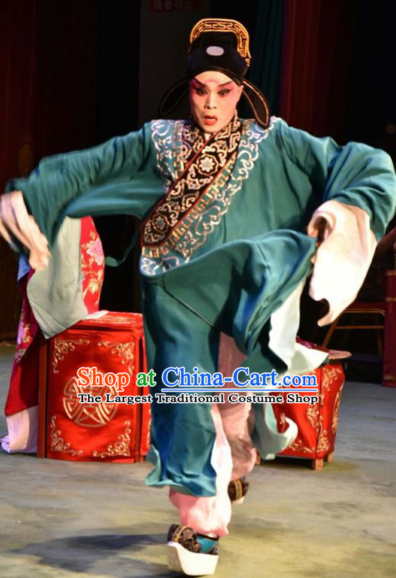 Fu Gui Tu Chinese Shanxi Opera Scholar Ni Jun Apparels Costumes and Headpieces Traditional Jin Opera Xiaosheng Garment Young Male Clothing