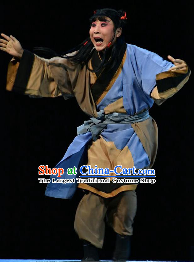 Fan Jin Zhong Ju Chinese Shanxi Opera Wa Wa Sheng Apparels Costumes and Headpieces Traditional Jin Opera Young Boy Garment Livehand Clothing