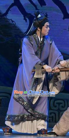 Qing Ming Chinese Shanxi Opera Niche Apparels Costumes and Headpieces Traditional Jin Opera Xiaosheng Garment Young Male Clothing