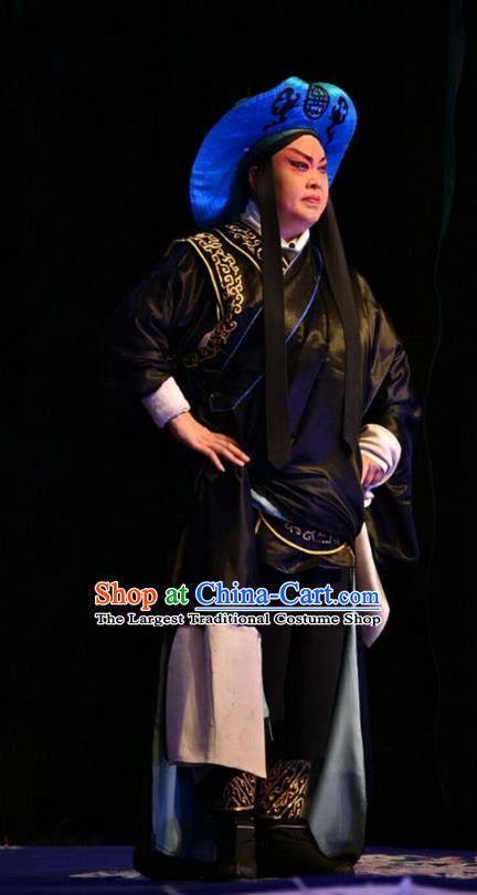 Bai Tu Ji Chinese Shanxi Opera Takefu Apparels Costumes and Headpieces Traditional Jin Opera Martial Male Garment Wusheng Liu Zhiyuan Clothing