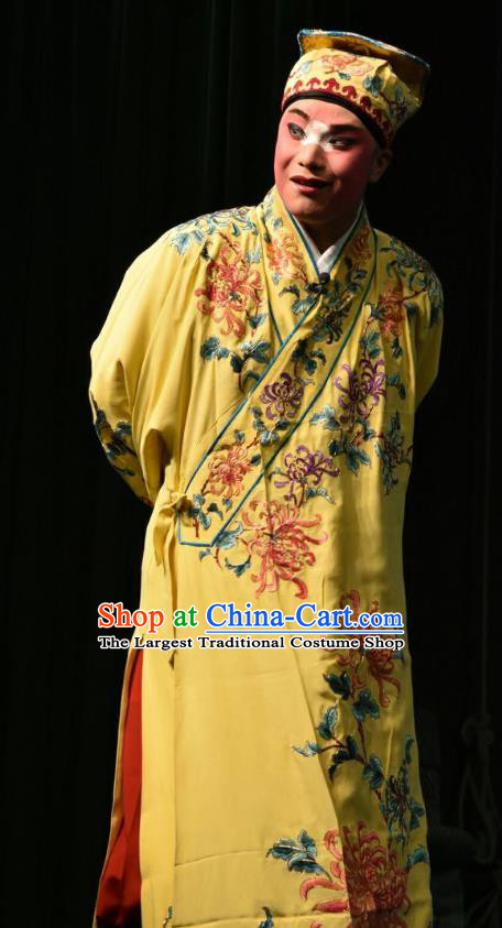 Zhao Jintang Chinese Shanxi Opera Clown Apparels Costumes and Headpieces Traditional Jin Opera Young Man Garment Song Cheng Clothing
