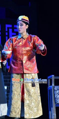 Lian Li Yu Chenglong Chinese Shanxi Opera Emperor Informal Apparels Costumes and Headpieces Traditional Jin Opera Xiaosheng Garment Monarch Kangxi Clothing