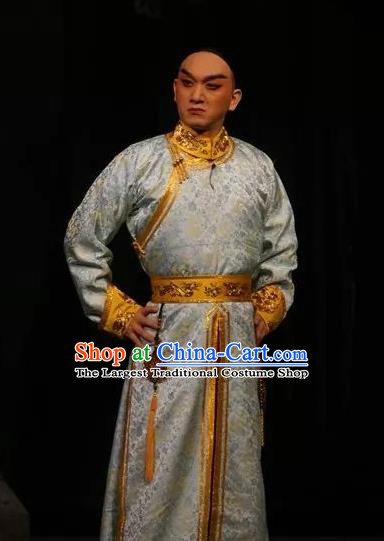 Lian Li Yu Chenglong Chinese Shanxi Opera Childe Le Chun Apparels Costumes and Headpieces Traditional Jin Opera Xiaosheng Garment Young Man Clothing