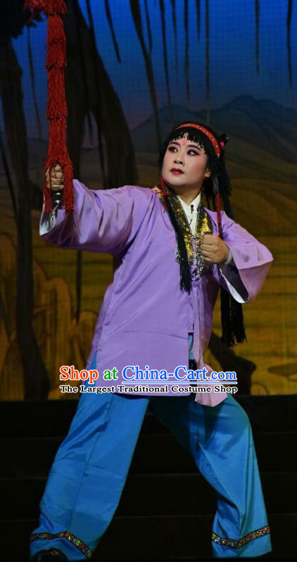Mulan Joins the Army Chinese Shanxi Opera Young Boy Hua Mudi Apparels Costumes and Headpieces Traditional Jin Opera Wa Wa Sheng Garment Clothing