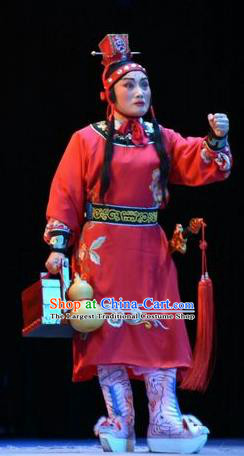 Fenyang King Chinese Shanxi Opera Young Boy Apparels Costumes and Headpieces Traditional Jin Opera Wa Wa Sheng Garment Niche Clothing