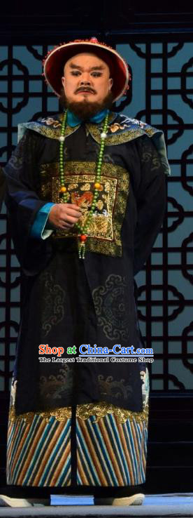 He Qing Hai Yan Chinese Shanxi Opera Qing Dynasty Official Apparels Costumes and Headpieces Traditional Jin Opera Garment Governor An Lan Clothing
