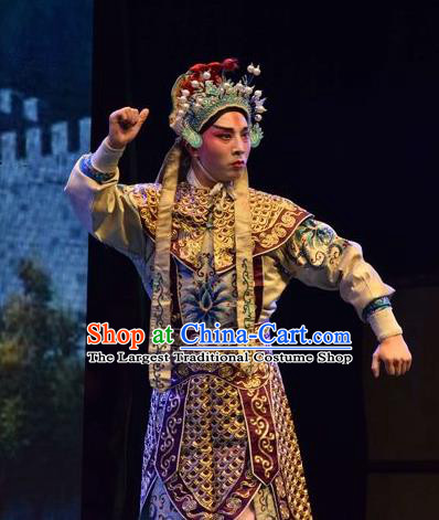 The Butterfly Chalice Chinese Shanxi Opera Soldier Apparels Costumes and Headpieces Traditional Jin Opera Wusheng Garment Martial Male Tian Yuchuan Clothing