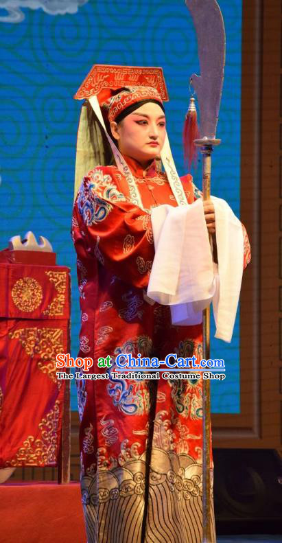 The Butterfly Chalice Chinese Shanxi Opera Figurant Apparels Costumes and Headpieces Traditional Jin Opera Imperial Bodyguard Garment Official Clothing