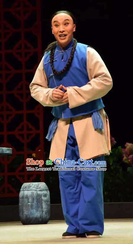 The Legend of Jin E Chinese Shanxi Opera Servant Chen Genfu Apparels Costumes and Headpieces Traditional Jin Opera Young Male Garment Clothing