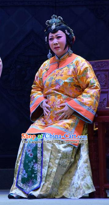 Chinese Jin Opera Young Female Liang Huimei Garment Costumes and Headdress The Legend of Jin E Traditional Shanxi Opera Rich Woman Apparels Mistress Dress