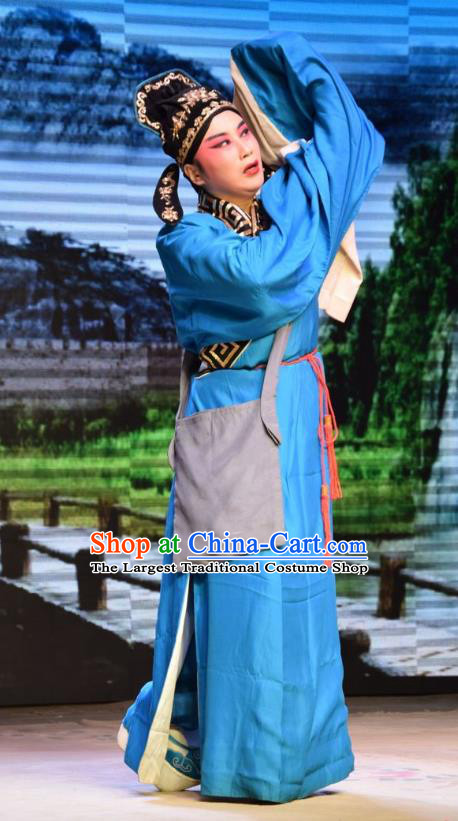 Legend of Leper Chinese Shanxi Opera Xiaosheng Apparels Costumes and Headpieces Traditional Jin Opera Scholar Garment Niche Chen Lvqin Clothing