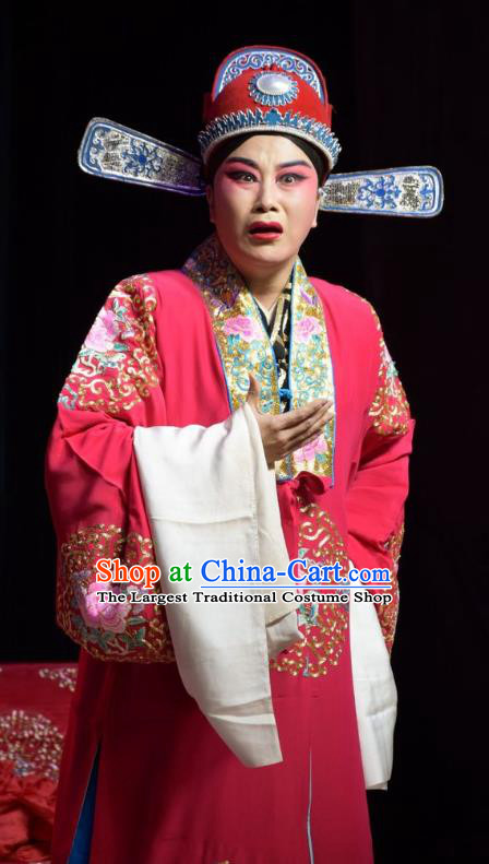 Legend of Leper Chinese Shanxi Opera Bridegroom Apparels Costumes and Headpieces Traditional Jin Opera Xiaosheng Garment Scholar Chen Lvqin Clothing