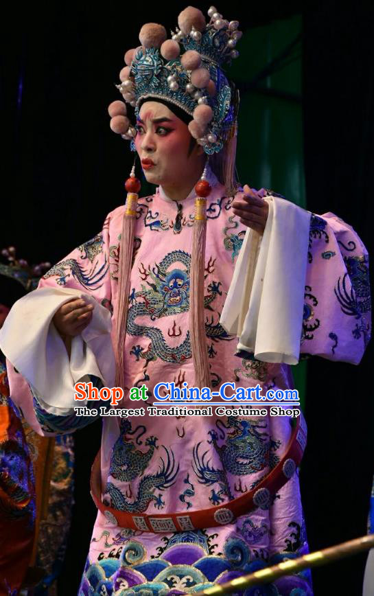 Wei Shui River Chinese Shanxi Opera Young Male Apparels Costumes and Headpieces Traditional Jin Opera Xiaosheng Garment Niche Clothing