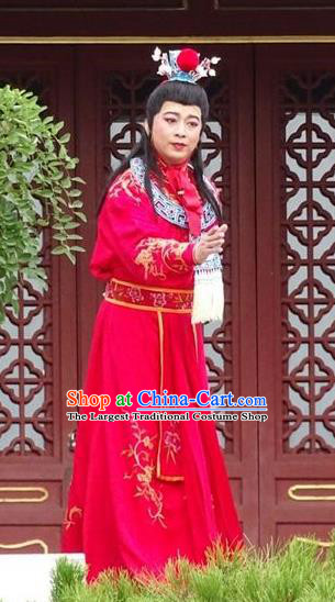 Huang Ye Hong Lou Chinese Qu Opera Xiaosheng Jia Baoyu Apparels Costumes and Headpieces Traditional Henan Opera Young Male Garment Noble Childe Clothing