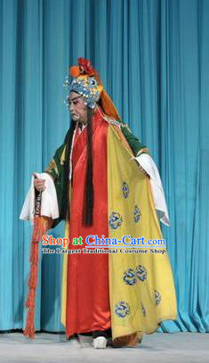 Forced Marriage Chinese Lu Opera Bully Hong Yanlong Apparels Costumes and Headpieces Traditional Shandong Opera Noble Male Garment Martial Man Clothing