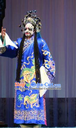 Forced Marriage Chinese Lu Opera Martial Male Hong Yanlong Apparels Costumes and Headpieces Traditional Shandong Opera Bully Garment Noble Childe Clothing