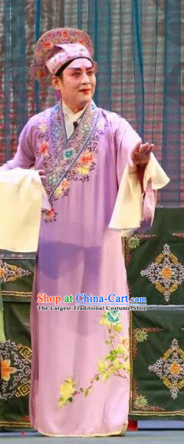 Long Feng Mian Chinese Lu Opera Xiaosheng Liang Ziyu Apparels Costumes and Headpieces Traditional Shandong Opera Niche Garment Number One Scholar Clothing