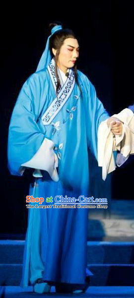 Chang Bai Han Ru Chinese Lu Opera Scholar Zhu Yue Apparels Costumes and Headpieces Traditional Shandong Opera Young Male Garment Niche Clothing