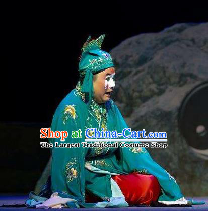 Yin Yang River Chinese Hubei Hanchu Opera Bully Apparels Costumes and Headpieces Traditional Han Opera Clown Garment Jia Chengxi Clothing