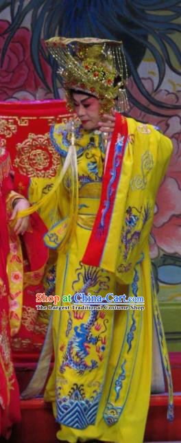 The Long Regret Chinese Guangdong Opera Emperor Li Longji Apparels Costumes and Headpieces Traditional Cantonese Opera Young Male Garment Xiaosheng Clothing