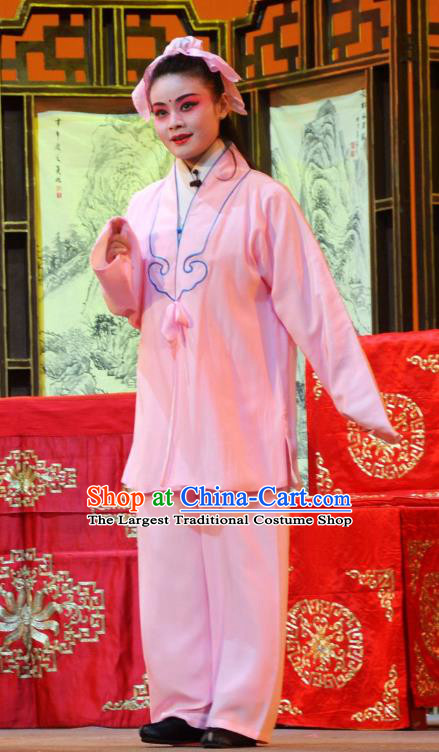 Chun Niang Qu Chinese Hubei Hanchu Opera Wa Wa Sheng Apparels Costumes and Headpieces Traditional Han Opera Young Boy Garment Xue Yi Clothing