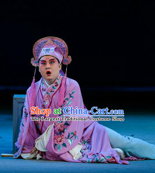 Jin Lian Chinese Hubei Hanchu Opera Childe Ximen Qing Apparels Costumes and Headpieces Traditional Han Opera Young Male Garment Merchant Clothing