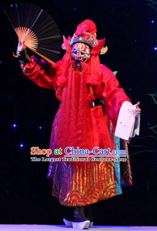 The Peony Pavilion Chinese Guangdong Opera God Zhong Kui Apparels Costumes and Headpieces Traditional Cantonese Opera Immortal Garment Clothing