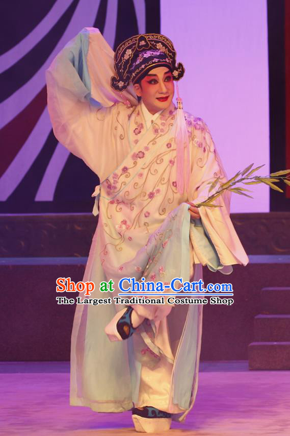 The Peony Pavilion Chinese Guangdong Opera Niche Apparels Costumes and Headpieces Traditional Cantonese Opera Xiaosheng Garment Scholar Liu Mengmei Clothing