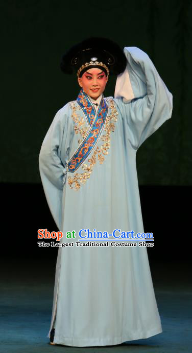 The Fairy Tale of White Snake Chinese Guangdong Opera Xu Xian Apparels Costumes and Headpieces Traditional Cantonese Opera Young Male Garment Niche Clothing