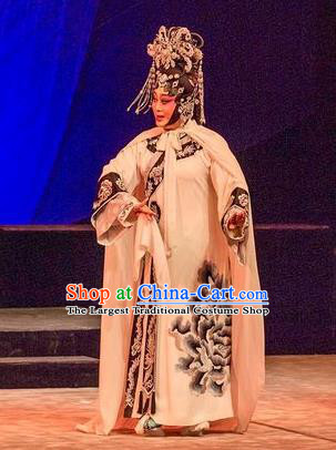 Chinese Cantonese Opera Queen Xiaozhuang Garment Prince Rui and Concubine Zhuang Costumes and Headdress Traditional Guangdong Opera Apparels Empress Dress