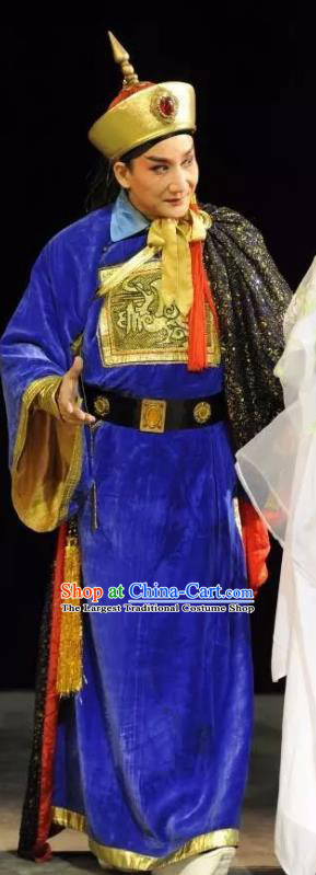 Hua Yue Ying Chinese Guangdong Opera Xiaosheng Apparels Costumes and Headpieces Traditional Cantonese Opera Garment Military Officer Lin Yuansheng Clothing