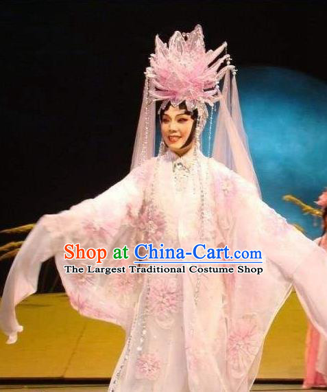Chinese Cantonese Opera Actress Garment Hua Yue Ying Costumes and Headdress Traditional Guangdong Opera Hua Tan Apparels Young Beauty Du Caiwei Dress