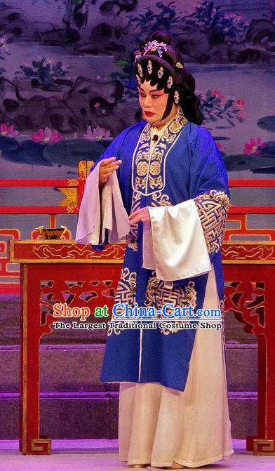 Chinese Cantonese Opera Pantaloon Garment Qian Tang Su Xiaoxiao Costumes and Headdress Traditional Guangdong Opera Elderly Female Apparels Dame Dress