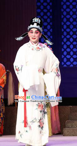 Legend of Lun Wenxu Chinese Guangdong Opera Xiaosheng Apparels Costumes and Headpieces Traditional Cantonese Opera Young Male Garment Number One Scholar Clothing