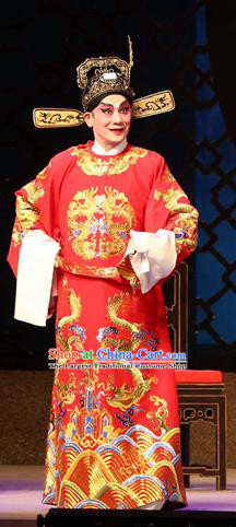 Legend of Lun Wenxu Chinese Guangdong Opera Number One Scholar Apparels Costumes and Headpieces Traditional Cantonese Opera Young Male Garment Official Clothing