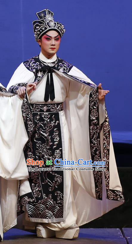 Southern Tang Emperor Chinese Guangdong Opera Xiaosheng Apparels Costumes and Headpieces Traditional Cantonese Opera Young Male Garment Li Yu Clothing
