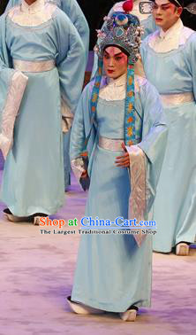 Southern Tang Emperor Chinese Guangdong Opera Young Man Apparels Costumes and Headpieces Traditional Cantonese Opera Official Garment Clothing
