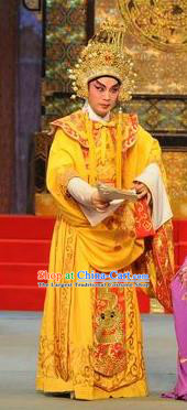 Southern Tang Emperor Chinese Guangdong Opera Monarch Apparels Costumes and Headpieces Traditional Cantonese Opera Lord Garment Young Male Clothing