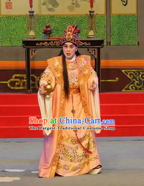 Southern Tang Emperor Chinese Guangdong Opera Young Male Apparels Costumes and Headpieces Traditional Cantonese Opera Lord Garment Monarch Li Yu Clothing