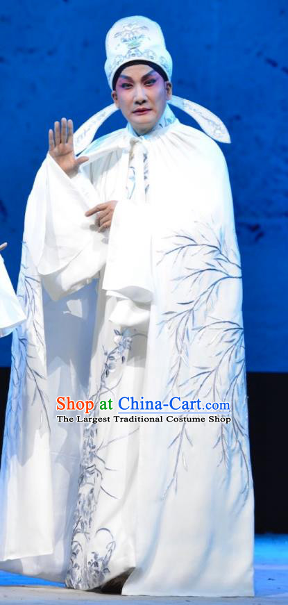 Hua Jian Ji Chinese Guangdong Opera Scholar Liang Yicang Apparels Costumes and Headpieces Traditional Cantonese Opera Young Male Garment Xiaosheng Clothing