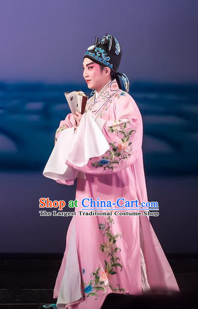 The Romance of Hairpin Chinese Guangdong Opera Poor Scholar Wang Shipeng Apparels Costumes and Headpieces Traditional Cantonese Opera Xiaosheng Garment Young Male Clothing