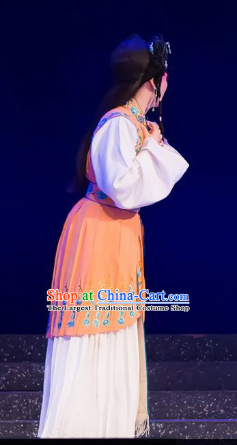 Chinese Cantonese Opera Hua Tan Garment The Romance of Hairpin Costumes and Headdress Traditional Guangdong Opera Actress Apparels Young Female Dress