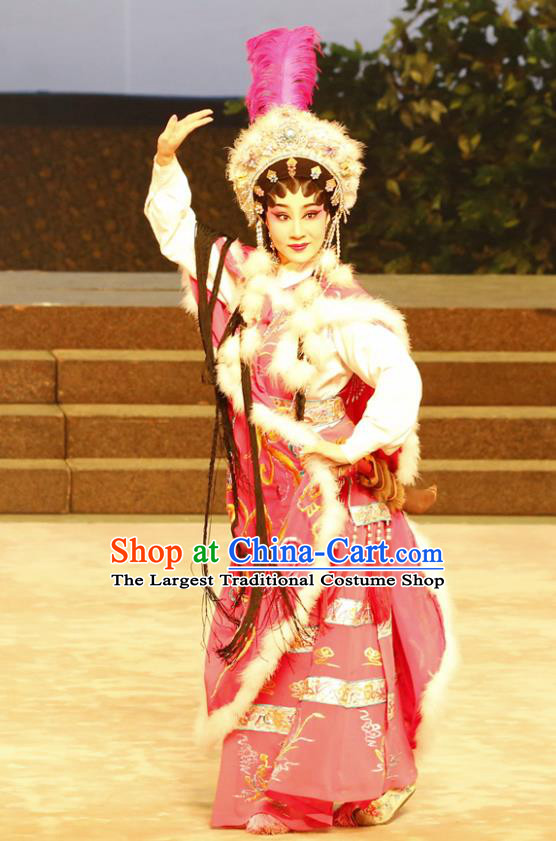 Chinese Cantonese Opera Young Female Garment General Ma Chao Costumes and Headdress Traditional Guangdong Opera Hua Tan Apparels Matriarch Jiang Yunxia Dress