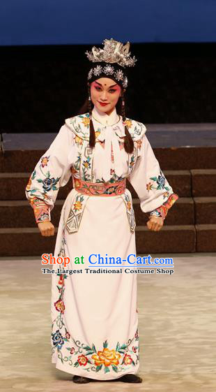 General Ma Chao Chinese Guangdong Opera Young Male Apparels Costumes and Headpieces Traditional Cantonese Opera Takefu Garment Wusheng Clothing